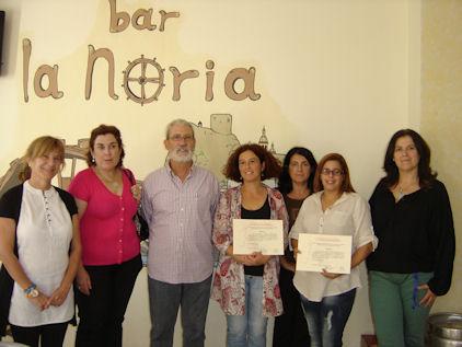 Entrega de premios del concurso Autoempleo en Femenino.