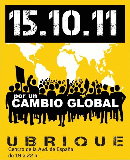 Convocatoria de la jornada de protesta del 15 de octubre de 2011 en Ubrique.