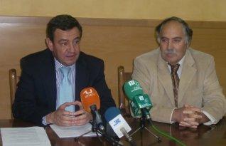 El presidente de la Diputación y el alcalde de Prado del Rey.