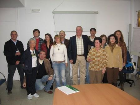 Participantes en la clausura del programa de promoción de la salud en Olvera.