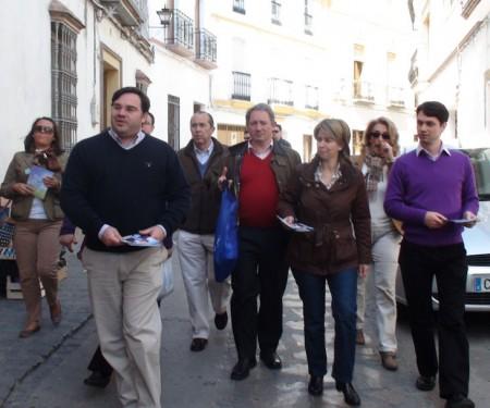 Ruiz Sillero, con otros dirigentes del PP.