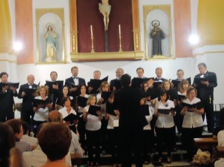 La Coral Polifónica de Ubrique, en su concierto de El Bosque.