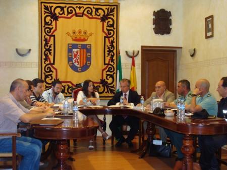 Primera reunión de la Junta local de Seguridad de Grazalema.