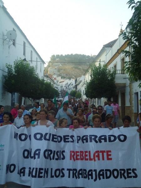Manifestación celebrada en Espera el 24 de julio de 2012.