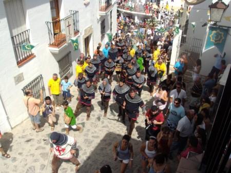 Celebración de la fiesta de Moros y Cristianos de Benamahoma (Foto: Radio Grazalema).