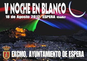 Cartel de la Noche en Blanco de Espera.