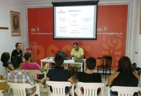 Presentación del proyecto en la sede socialista  de Ubrique.