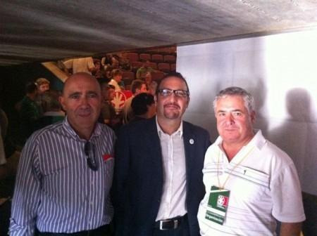 Miguel Hinojo junto a Héctor Lagier (centro) y Manuel María de Bernardo (izquierda).