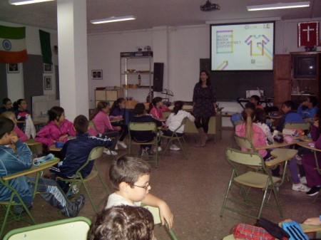 Taller escolar impartido en Olvera.