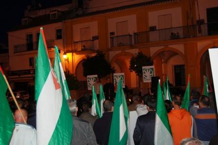 Concentración celebrada en la plaza del Ayuntamiento de Villamartín el 14 de noviembre de 2012.