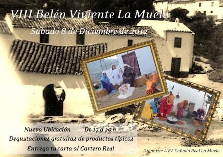 Cartel del belén viviente de La Muela.