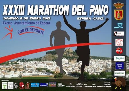 Cartel del Marathón del Pavo.