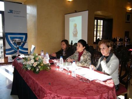 La diputada provincial Pilar Cuartero, durante su intervención en Bornos.