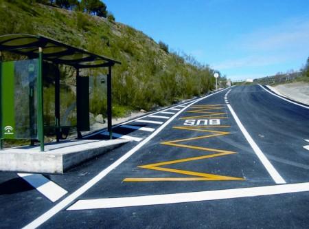 Nueva parada de autobús.