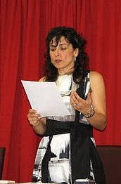 Inmaculada Gil, cuando tomó posesión del cargo de alcaldesa de El Bosque.