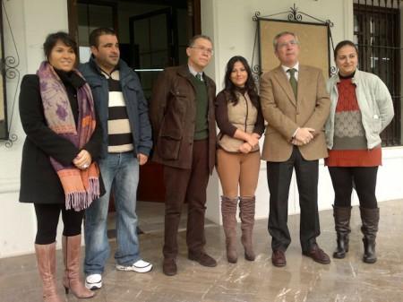 El subdelegado del Gobierno, el diputado Eduardo Párraga y representantes municipales de El Gastor.
