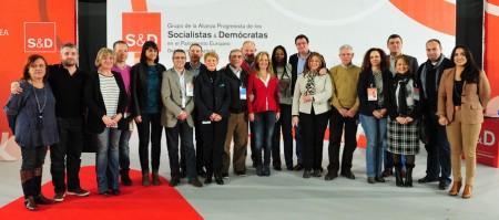Francisco Menacho (sexto por la derecha), con los demás coordinadores sectoriales.