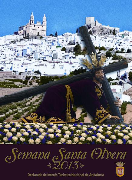Cartel anunciador de la Semana Santa de Olvera.