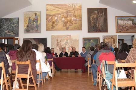 Inauguración de la exposición pictórica.