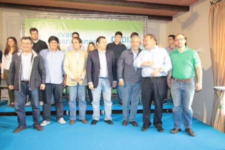 Dirigentes del PP y NNGG, en Arcos.