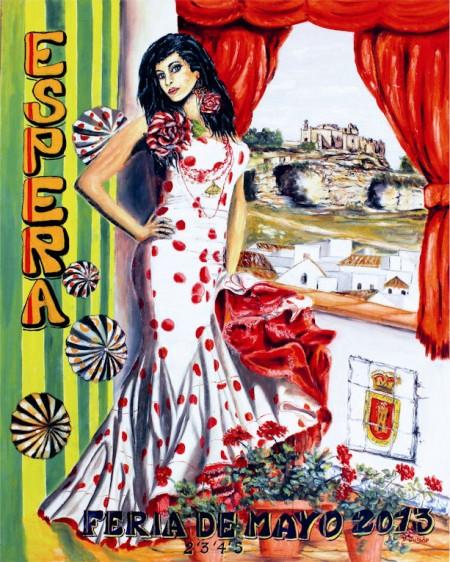 Cartel anunciador de la Feria de la Cruz de Mayo de Espera.
