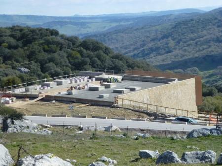 Parque industrial de Grazalema, en construcción.