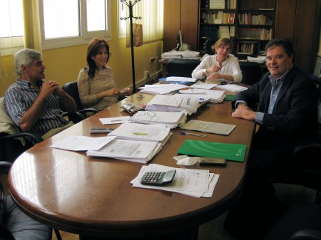 Reunión celebrada en la Mancomunidad.