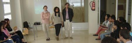 María Estudillo, Mª Ángeles Fernández, técnicas de Participación Ciudadana de la Diputación de Cádiz, y Pepe Mulero, concejal-delegado de Fomento.