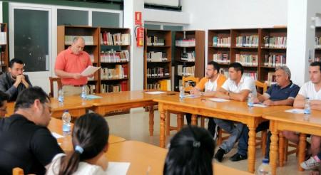 Francisco Javier Gómez, durante la lectura de su discurso.