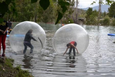 Actividad de aquabola.