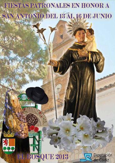 Cartel de las fiestas patronales de El Bosque.