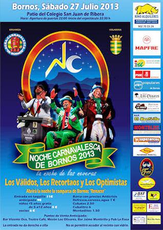 Cartel de la Noche Carnavalesca de Bornos.