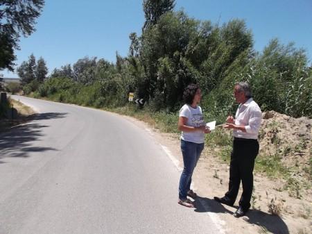 El diputado provincial Alfonso Moscoso y la alcaldesa de Torre Alháquime, Noelia Ruiz.