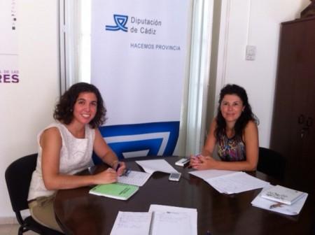 Noelia Ruiz y Pilar Cuartero.