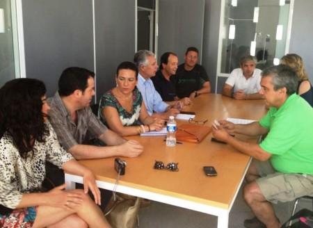 Asistentes a la reunión celebrada en Prado del Rey.