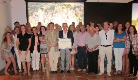 Presentación del premio concedido a la Vía Verde de la Sierra.
