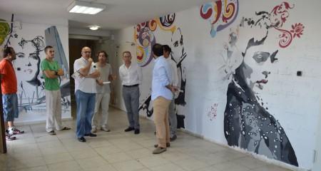 Visita a las obras de la Casa de la Cultura de Olvera.