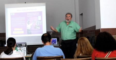 Luis Javier Guerrero, durante su conferencia.