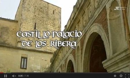 Fotografa del vídeo sobre el palacio de los Ribera.