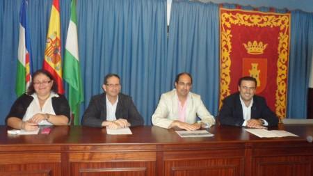 Participantes en la presentación del proyecto.