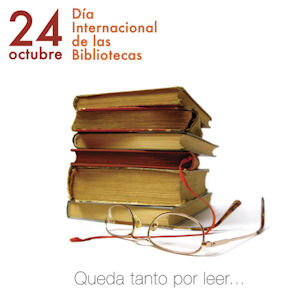 Cartel del Día Internacional de las Bibliotecas.