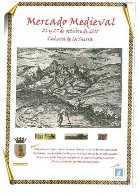 Cartel del mercado medieval.