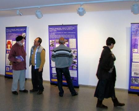Exposición instalada en la Casa de la Cultura de Ronda.