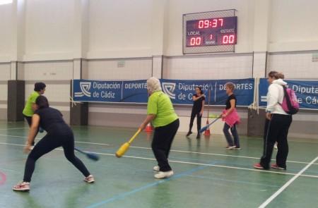 Participantes en la actividad deportiva.