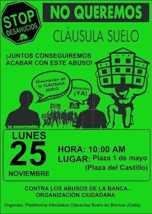 Cartel anunciador de la protesta.