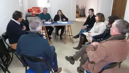 Dirigentes socialistas reunidos en Algodonales.