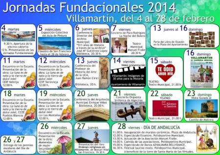 Programa de las jornadas fundacionales.