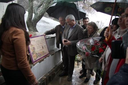 Dirigentes socialistas, en el homenaje a las '17 rosas' de Grazalema.
