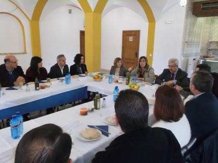 Reunión de Susana Díaz, con dirigentes socialistas de la provincia y de la Sierra de Cádiz.