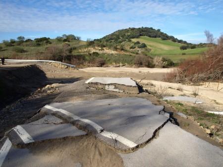 Estado de la carretera CA-9101, de Algodonales a La Muela.